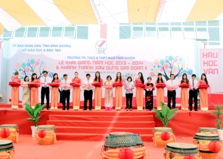 New school year beginning ceremony and Phase II inauguration of Ngo Thoi Nhiem Primary – Secondary – High School in Binh Duong New City